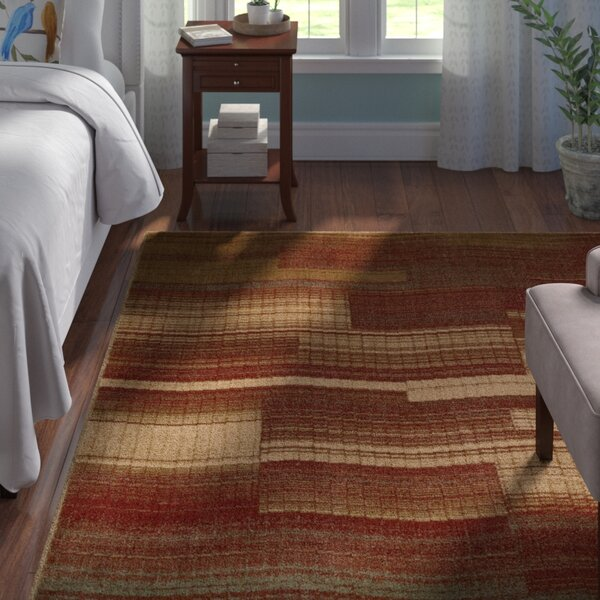 Smithtown Flame Area Rug by Andover Mills