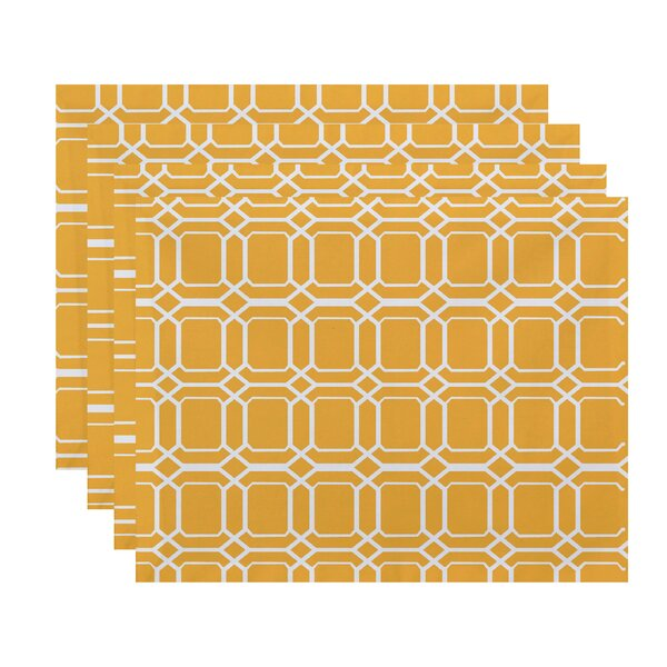 Golden Gate Coastal Placemat (Set of 4) by Beachcrest Home