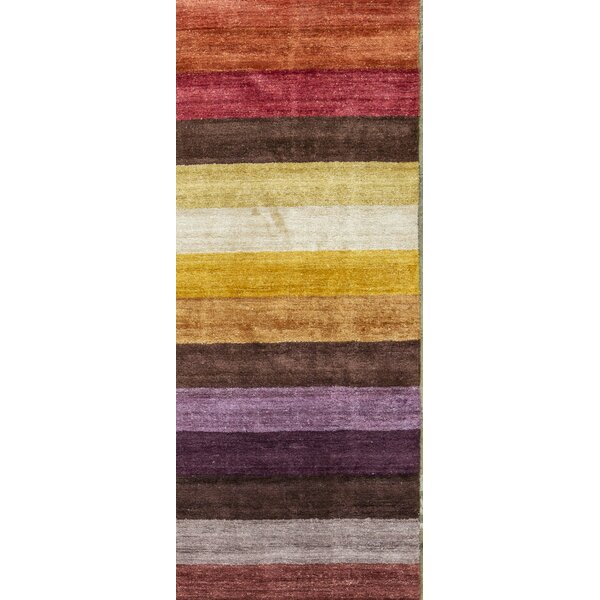 Hand Knotted Wool Multicolor Rug