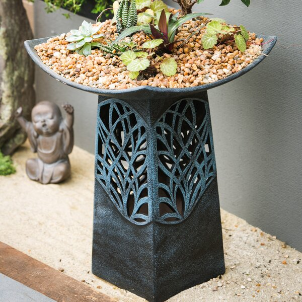 Intricate LED Lighted Birdbath by Evergreen Enterprises, Inc