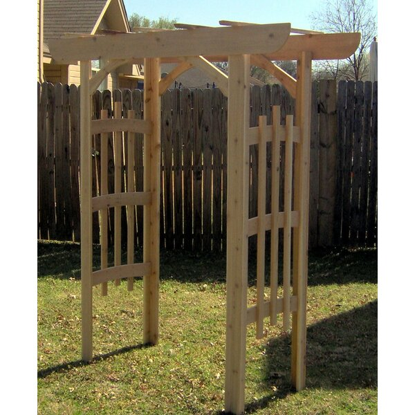 Decorative Cedar Wood Arbor by Threeman Products