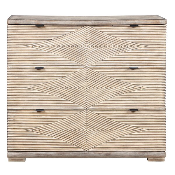 Sariah 3 Drawer Accent Chest by Millwood Pines Millwood Pines