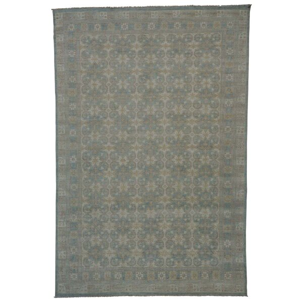 Khotan Oriental Hand-Knotted Ivory Area Rug by Bloomsbury Market