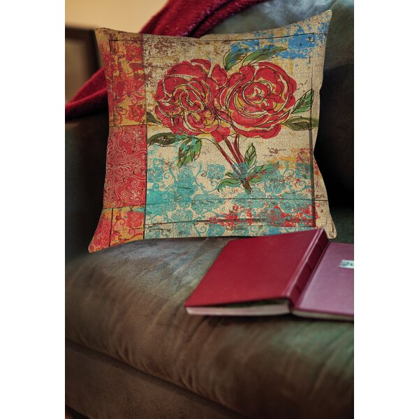 Valencia 2 Printed Throw Pillow by Manual Woodworkers & Weavers