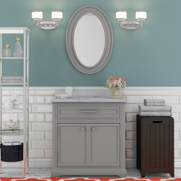 Bergin 30 W  Single Sink Bathroom Vanity Set with Mirror by Three Posts