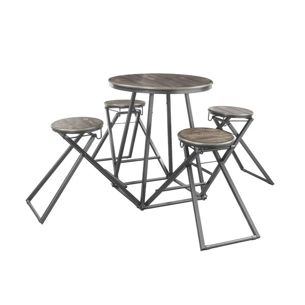 Sandberg 5 Piece Counter Height Dining Set by Williston Forge