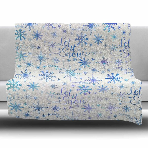 Let It Snow Winter Pattern by Noonday Design Fleece Blanket by East Urban Home