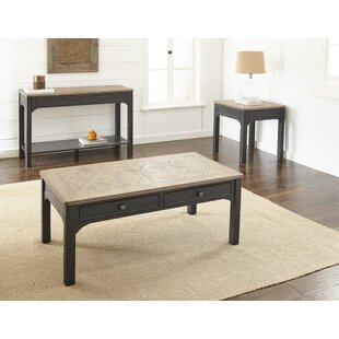Vierge 3 Piece Coffee Table Set August Grove Best #1