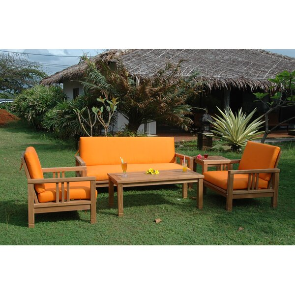 South Bay 5 Piece Teak Sofa Seating Group with Cushions by Anderson Teak