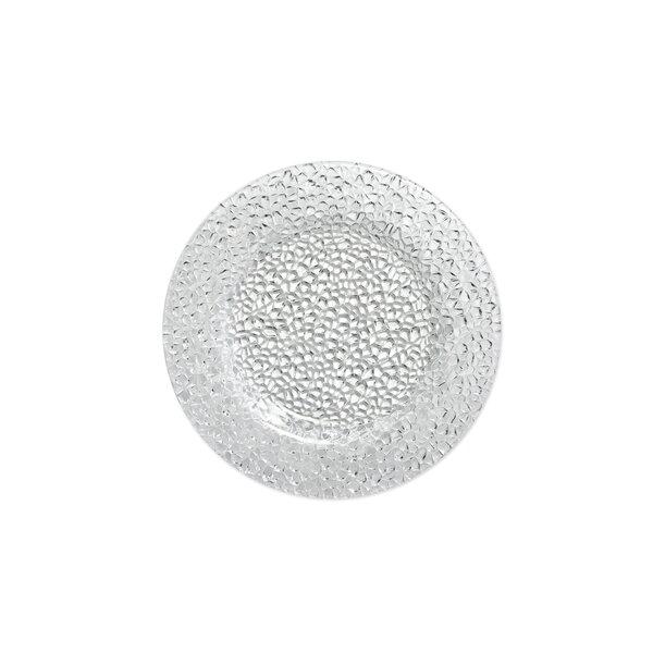 Diamond Glass Appetizer Plate (Set of 4) by IMPULSE!