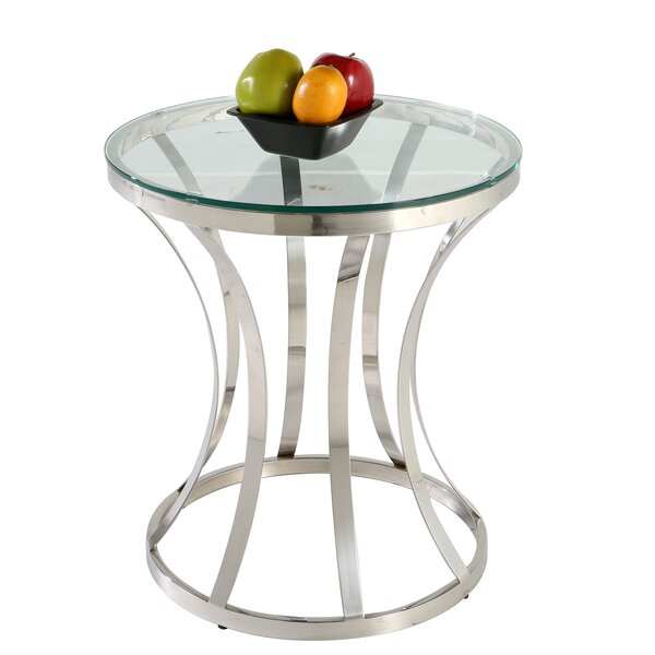 Double Ring End Table by Chintaly Imports