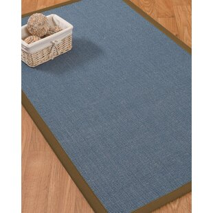 Ivy Border Hand-Woven Gray/Malt Area Rug by Bloomsbury Market