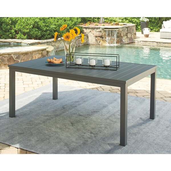 Aluminum Dining Table by Latitude Run