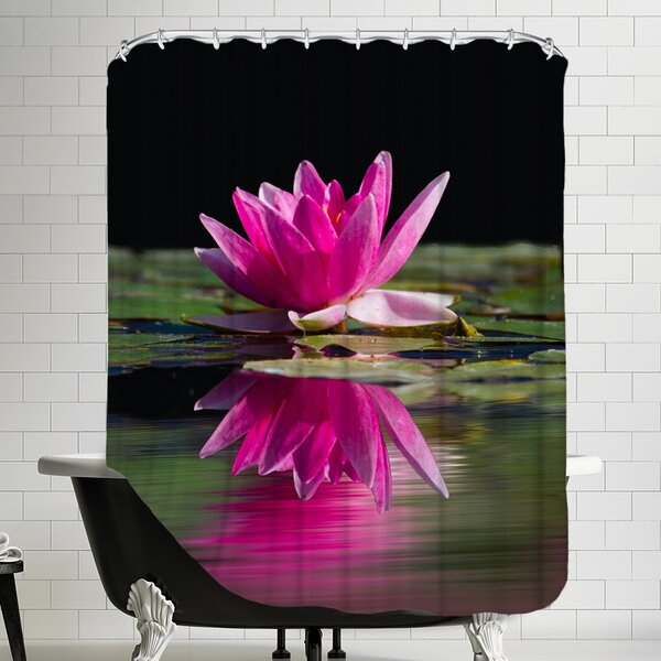 Asia Lotus Flower Shower Curtain by East Urban Home