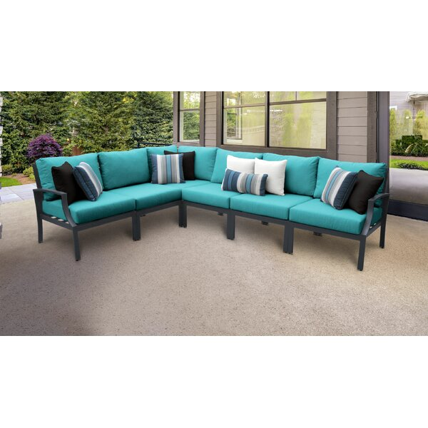 Benner Outdoor 6 Piece Sectional Seating Group with Cushions by Ivy Bronx Ivy Bronx