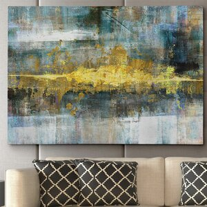 'Frequency' by Conrad Knutsen Framed Painting Print on Wrapped Canvas by Wexford Home