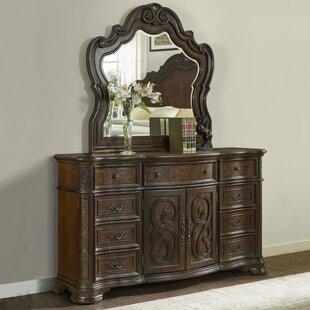 Valerian 9 Drawer Dresser with Mirror by Astoria Grand