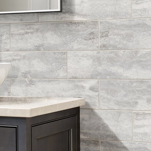Pietra Bernini 4 x 18 Porcelain Field Tile in Gray by MSI