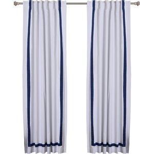 Grosgrain Ribbon Curtain Panels (Set of 2)