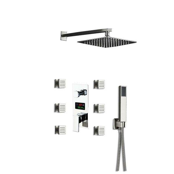Digital Display Pressure-Balanced (Temperature and Volume) Complete Shower System with Rough-in Valve by Wonderland America Wonderland America