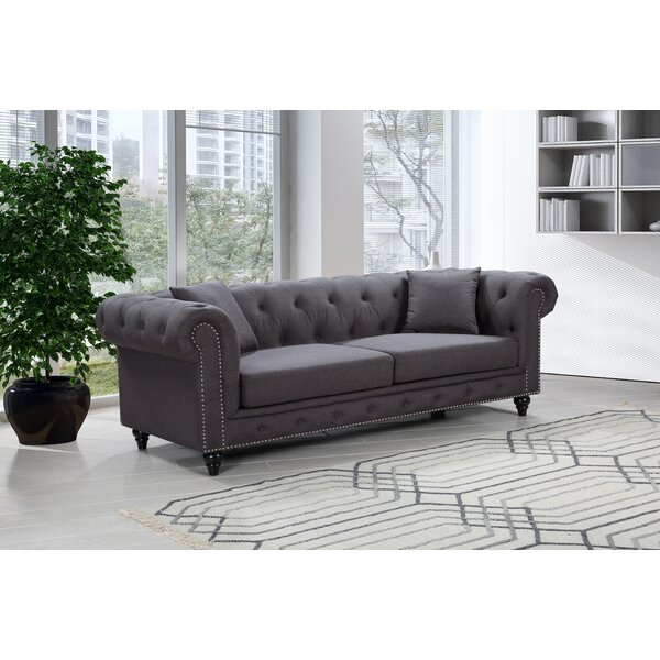 Excellent Reviews Kylan Chesterfield Sofa Get The Deal! 60% Off