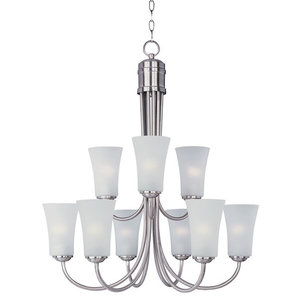 Garfield 9 - Light Shaded Tiered Chandelier by Charlton Home Charlton Home