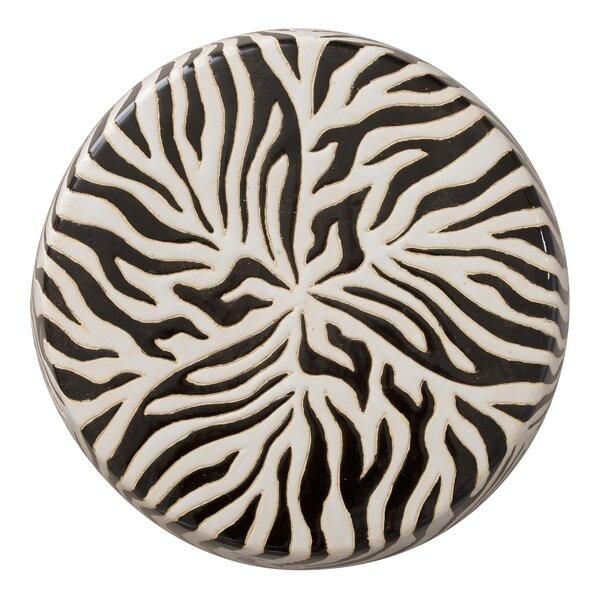 Krugerville Zebra Garden Stool by World Menagerie
