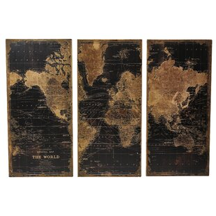 World map wall art stanford world map 3 piece graphic art set gumiabroncs Image collections
