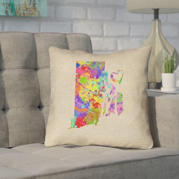 Sherilyn Rhode Island Love Outdoor Throw Pillow