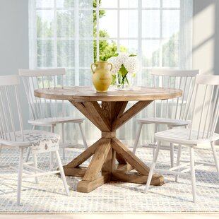 Peralta Round Rustic Dining Table & 48 Inch Round Dining Table Set | Wayfair