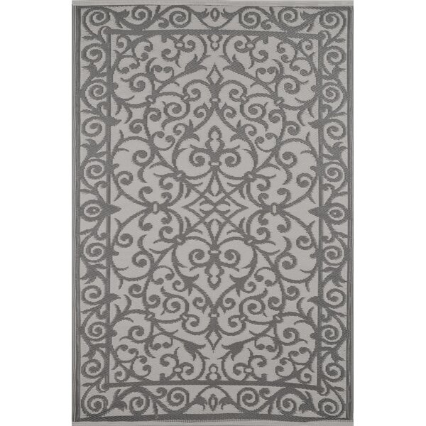 Lightweight Reversible Taupe Gray/Buttercream Indoor/Outdoor Area Rug by Wildon Home ®