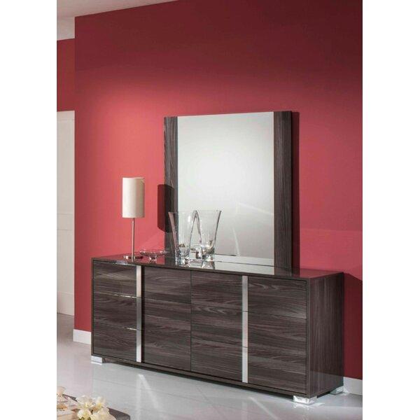 Demaria 6 Drawer Dresser with Mirror by Orren Ellis