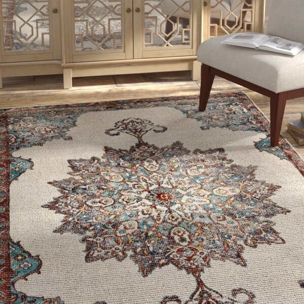 Grayson Hand-Tufted Brown/Blue Area Rug by Bungalow Rose