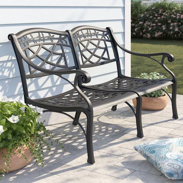 Carmen Aluminum Garden Bench by Sol 72 Outdoor