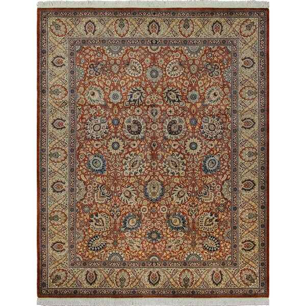 One-of-a-Kind Mickey Hand Knotted Wool Rust Area Rug by Isabelline