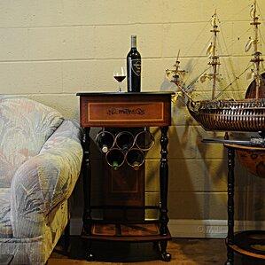 5 Bottle Floor Wine Rack by Old Modern Handicrafts