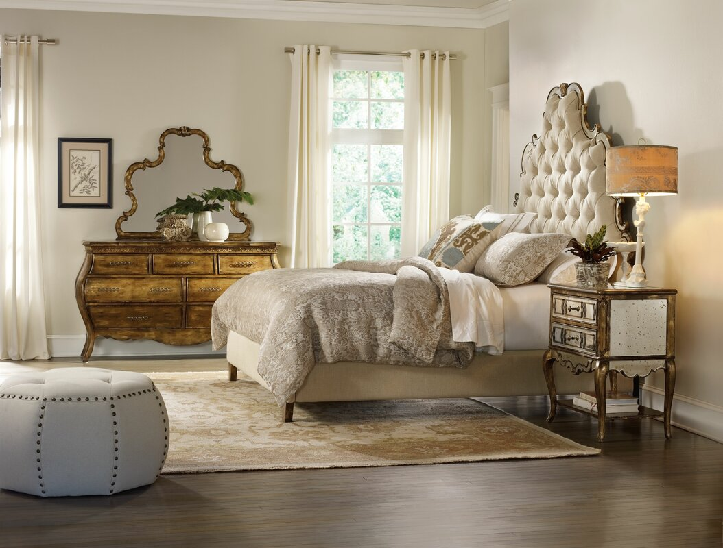 Wayfair Upholstered Bed Home Wayfair Upholstered Bed King: Hooker Furniture Sanctuary Upholstered Panel Headboard