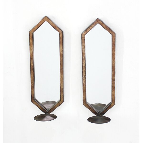 Metal Candle Holder (Set of 2) by Teton Home