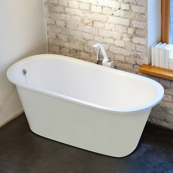Inflection 61.5 x 29.5 Soaking Bathtub by Aquatica