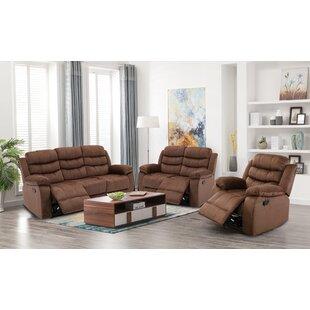 Faline 3 Piece Reclining Living Room Set by Ebern Designs