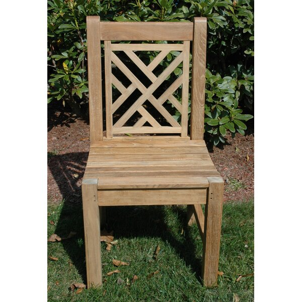 Chippendale Stacking Teak Patio Dining Chair by Regal Teak