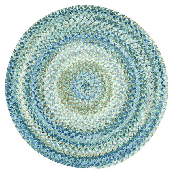 Wilhelmine Chevron Braided Blue/Green Area Rug