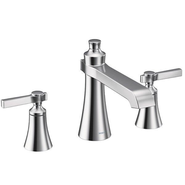 Not Applicable Double Handle Deck Mounted Roman Tub Faucet Trim by Moen Moen