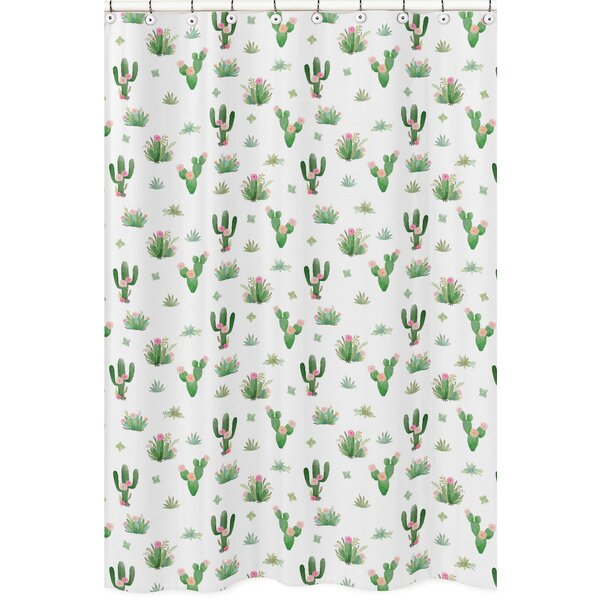 Cactus Floral Shower Curtain by Sweet Jojo Designs