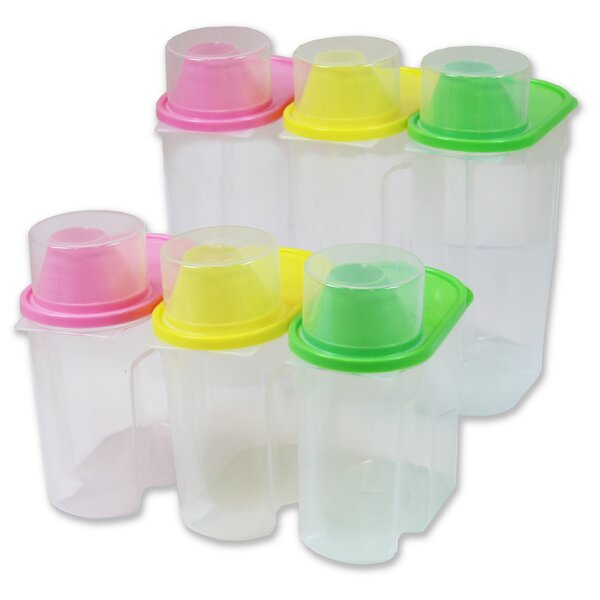 Plastic 6 Container Food Storage Set by Basicwise