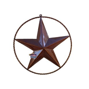 Rustic Star With Rope Ring Wall Decor