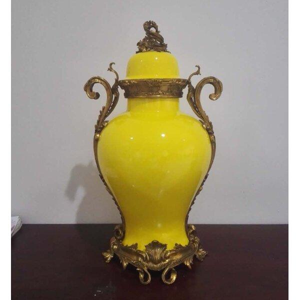 Lidded Porcelain Table Vase by Westmen Lights