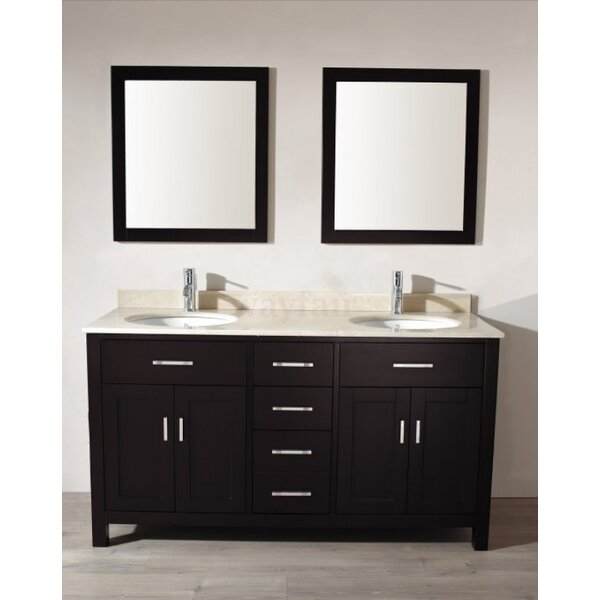 Celize 63 Double Bathroom Vanity Set with Mirror by Bauhaus Bath