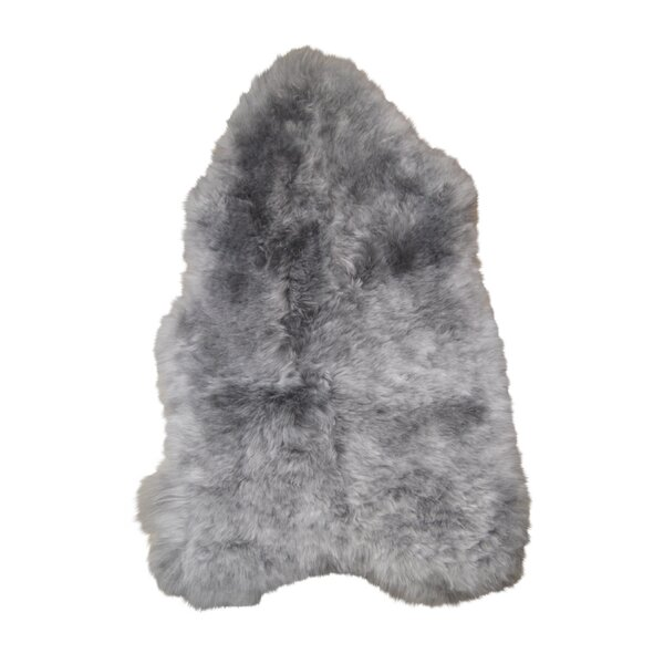 Daleview Sheared Hand-Woven Sheepskin Gray Area Rug by Loon Peak