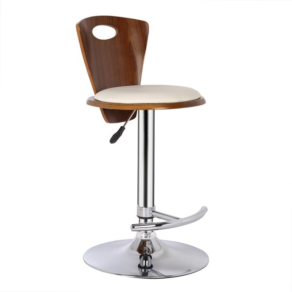Braun Adjustable Height Swivel Bar Stool by Wade Logan